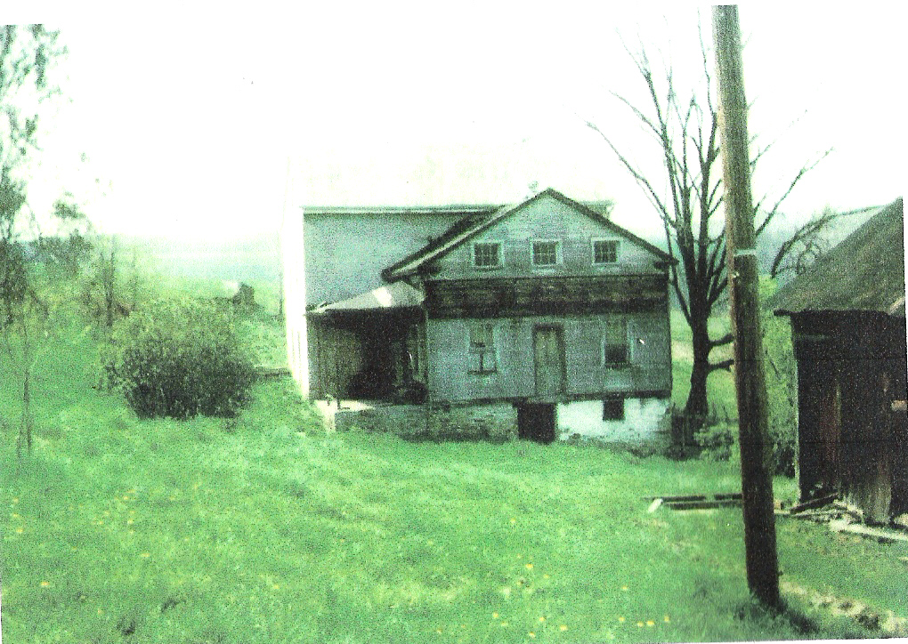 1975 photo of Lepley stone house, Southampton Township, Somerset County, PA