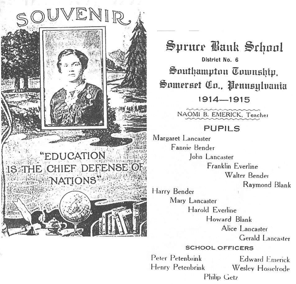 Souvenir, Spruce Bank School, 1914-15
