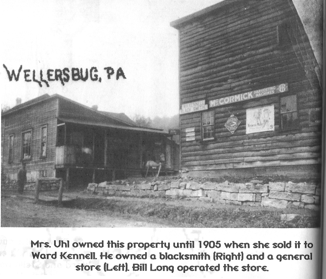 Wellersburg Pa blacksmith shop and general store