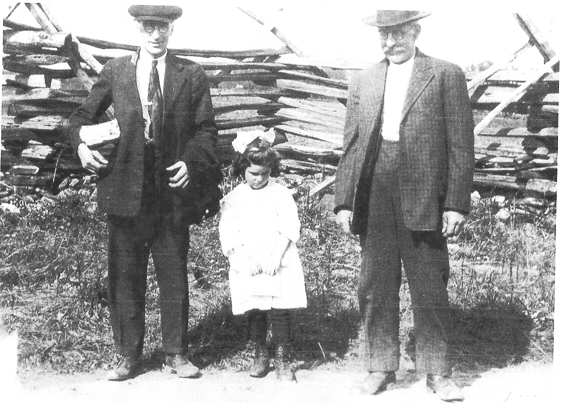 Earl Korns with his daughter and father John Wilson Korns.