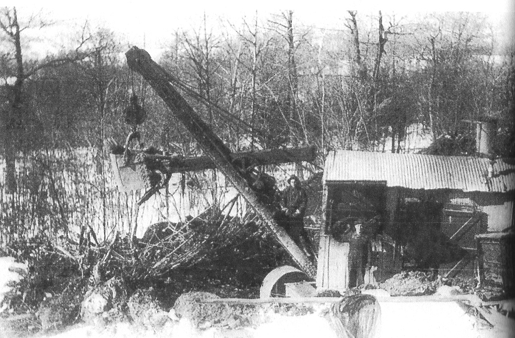 Earl Korns' steam shovel, Southampton Township, Somerset County, PA