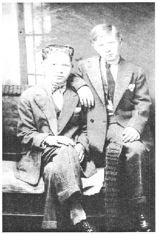 Photo of Merle & James Korns, children of Joseph & Alice (Boyer) Korns