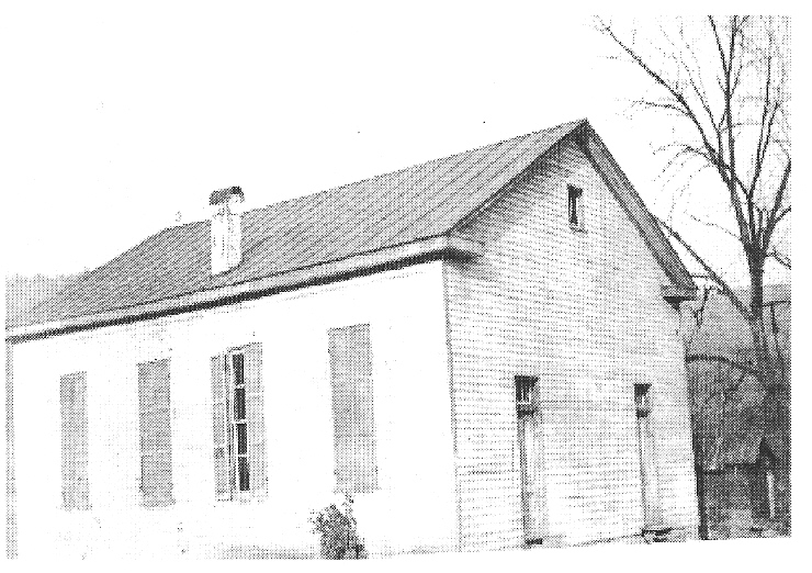 Old photo of Gladdens run church