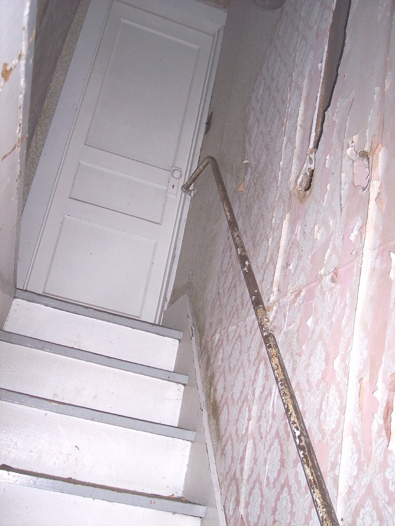 East end stairs, Korns farmhouse, Southampton Township, Somerset County.