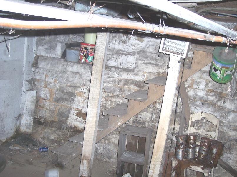 West basement stairs, Korns farmhouse, Southampton Township, Somerset County.