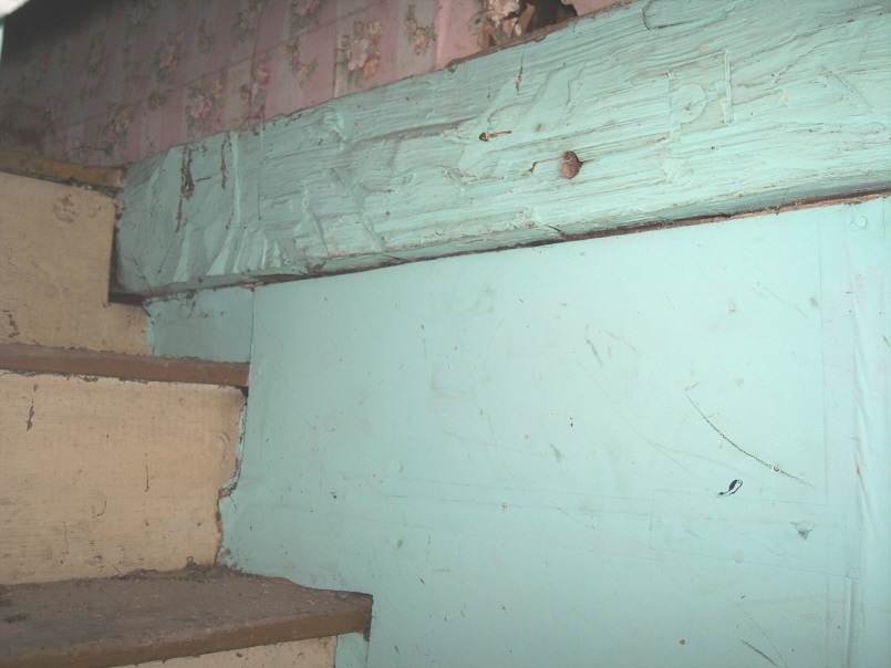 Wall detail from the attic stairs in the Korns farmhouse, Southampton Township, Somerset County.
