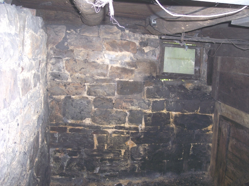 Coal room in the basement of the Korns farmhouse, Southampton Township, Somerset County.