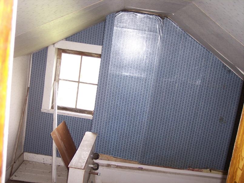 Bath room in the Korns farmhouse, Southampton Township, Somerset County.