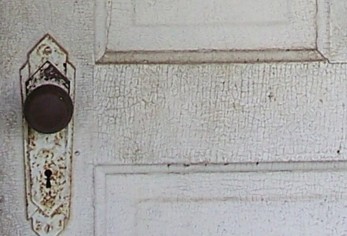 Pre-1830 style door in the Korns farmhouse, Southampton Township, Somerset County.