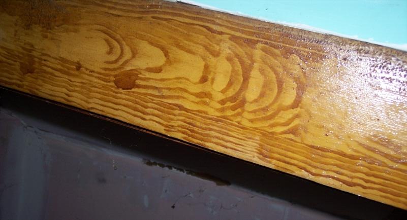 Faux woodgrain trim, Korns farmhouse, Southampton Township, Somerset County.