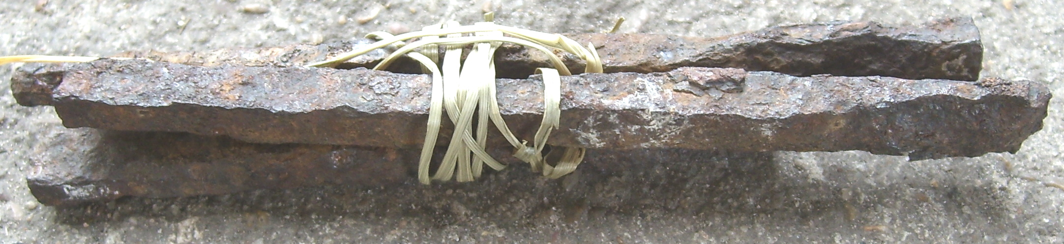 Enlarged view of nails from the house on the Michael Korns, Sr. farm.