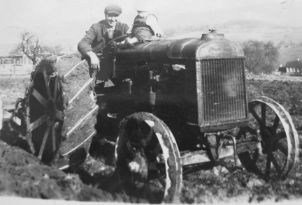 Allen Korns on Fordson Tractor, Somerset County PA.