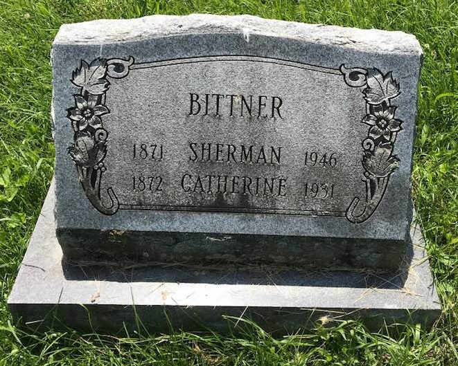 Tombstone of Sherman Bittner.