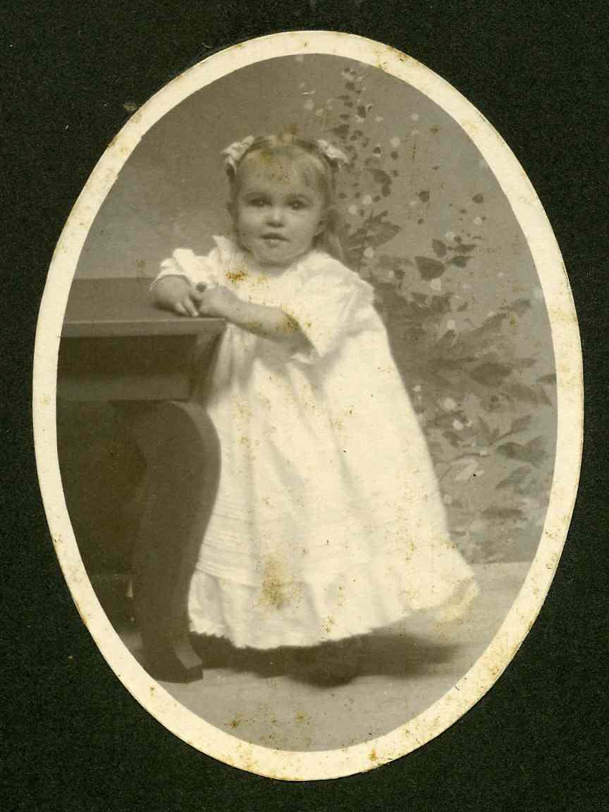 Baby photo of Gladys Edna Bittner, daughter of Calvin Bittner of Somerset County PA.