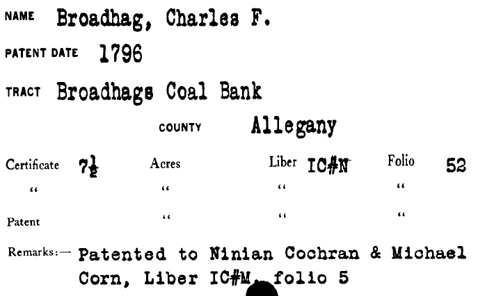 Michael Corn and Ninian Cockran as co-owners of Brodhegs Coal Bank
