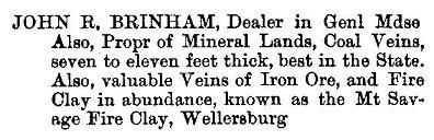 John R. Brinham advertisement, 1876