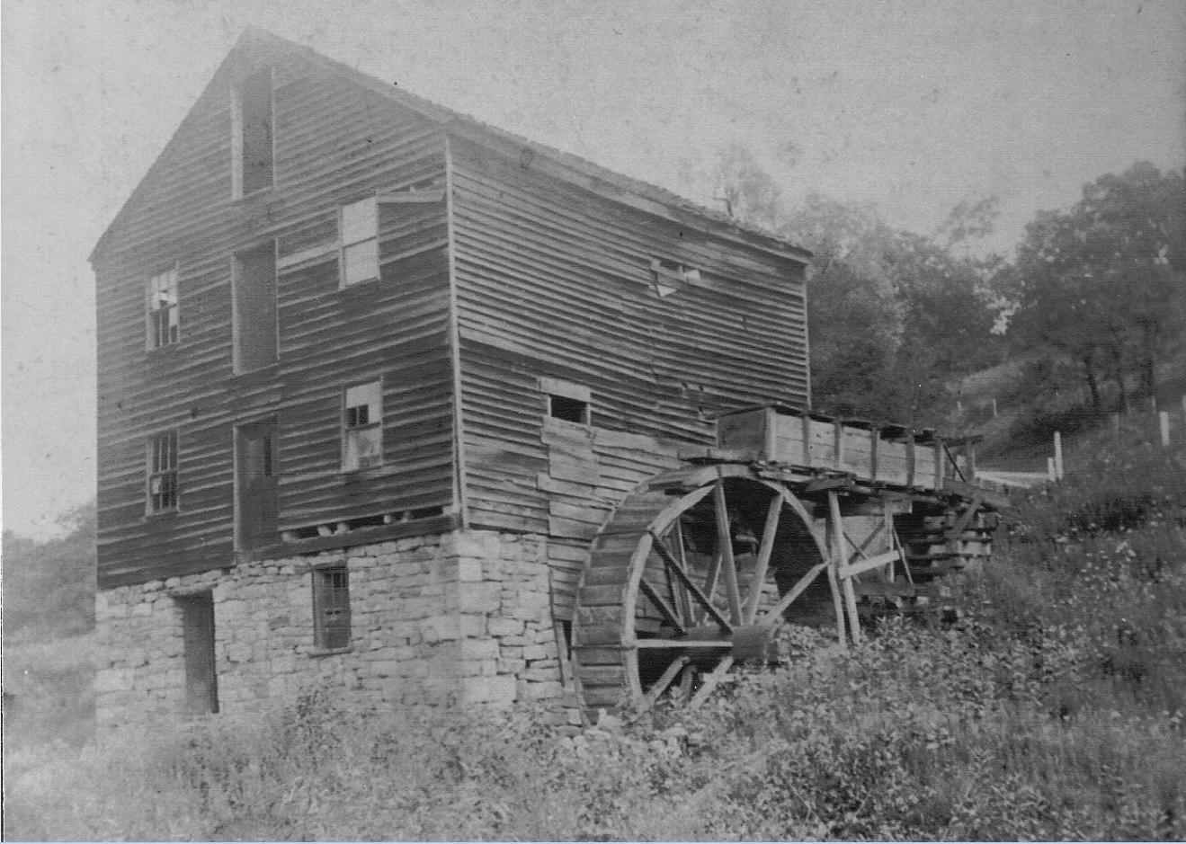 Water powered mill at Kennels Mills, PA