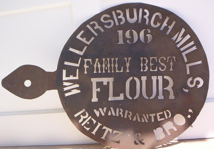 Reitz & Brothers Wellersburg Mills flour sack stencil