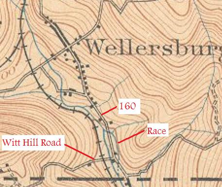 mill race on 1901 topo map