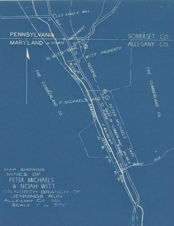 Noah Witt Mine Map