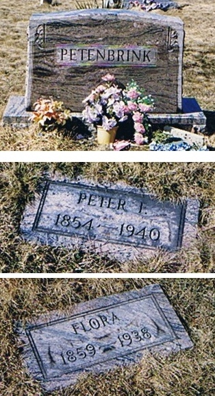 Tombstones of Peter and Flora Petenbrink (Somerset Co. PA)