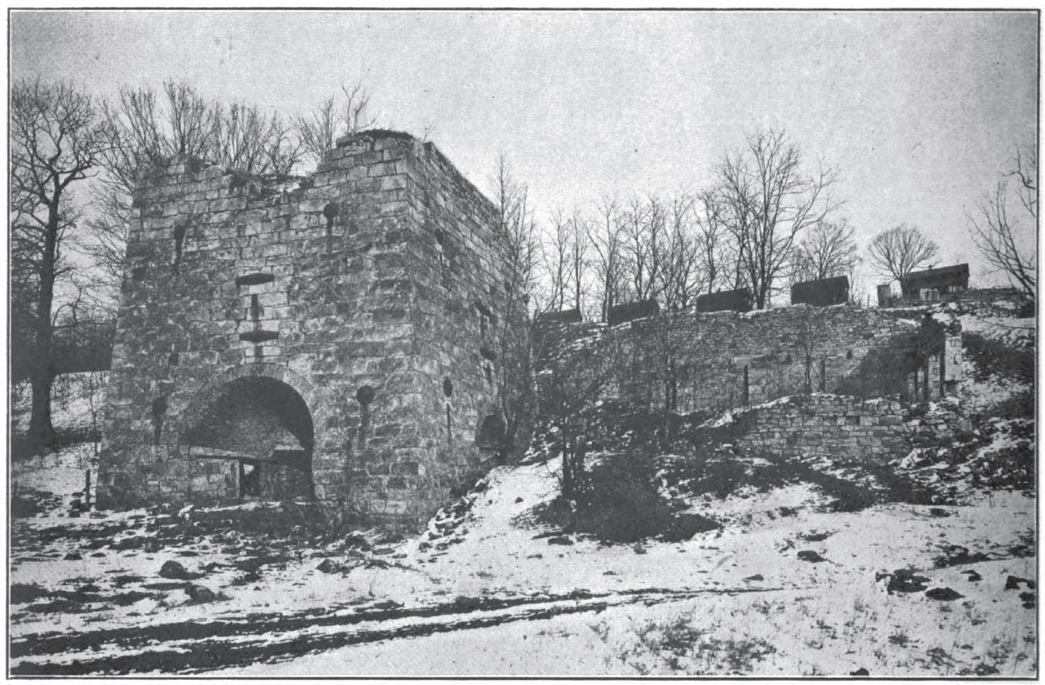 Circa 1920 photo Wellersburg furnace