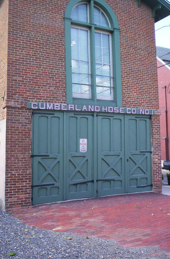 1845 building of the Cumberland Hose Company, in Cumberland, Maryland