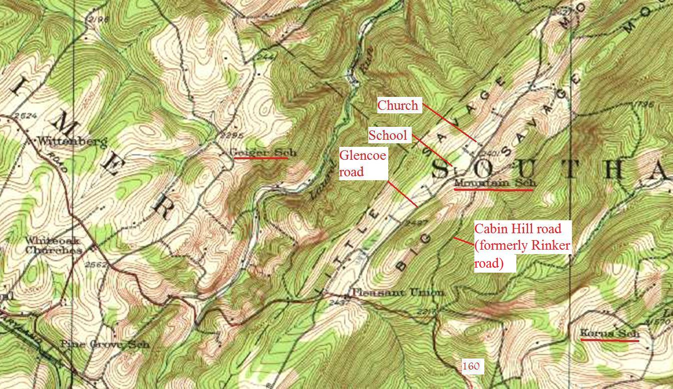 Map showing location of the Mountain School